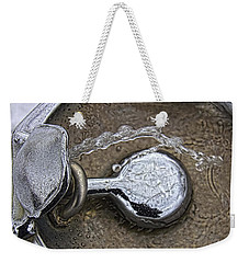 Weekender Tote Bag featuring the photograph A Winter Drink Of Water by Daniel Sheldon