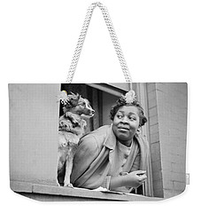 A Woman And Her Dog Weekender Tote Bag