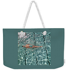 A Woman Swimming In A Pool Weekender Tote Bag by Fred Lyon
