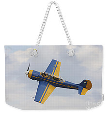 A Yakolev Yak-52 Plane Flying Weekender Tote Bag by Timm Ziegenthaler