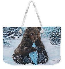 A Young Brown Bear Weekender Tote Bag