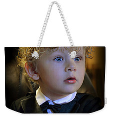 Weekender Tote Bag featuring the photograph A Young Gentleman by Ally  White