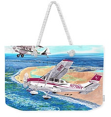 Cessna 206 And A1a Husky Weekender Tote Bag by Jack Pumphrey