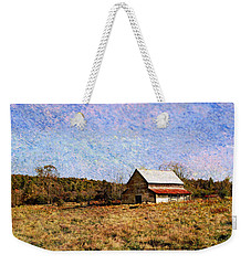 Weekender Tote Bag featuring the photograph Abandoned Barn In North Georgia by Vizual Studio