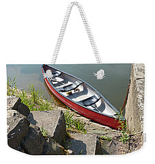 Abandoned Boat At The Quay Weekender Tote Bag
