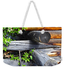 Weekender Tote Bag featuring the photograph Abandoned  by Cathy Mahnke