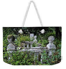 Weekender Tote Bag featuring the photograph Abandoned Cemetery 2 by Cathy Mahnke