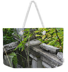 Weekender Tote Bag featuring the photograph Abandoned Cemetery by Cathy Mahnke
