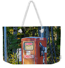 Weekender Tote Bag featuring the photograph Abandoned Gas Pump by Alana Ranney