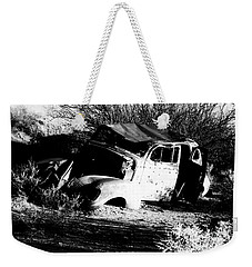 Weekender Tote Bag featuring the photograph Abandoned by Jessica Shelton