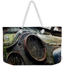 Weekender Tote Bag featuring the photograph Abandoned by Micki Findlay