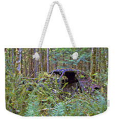 Weekender Tote Bag featuring the photograph Abandoned by Peggy Collins