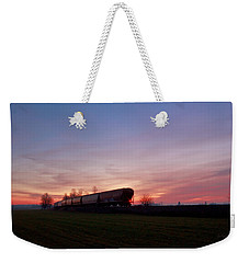 Weekender Tote Bag featuring the photograph Abandoned Train  by Eti Reid