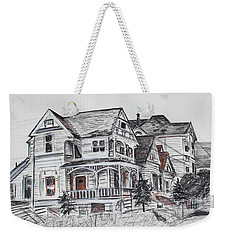 Abandoned Victorian And Neighbors In Oakland California Weekender Tote Bag