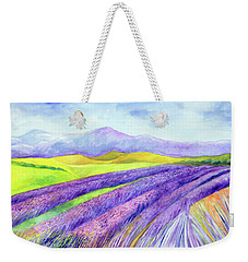 Abbey Fields At Senanque Weekender Tote Bag