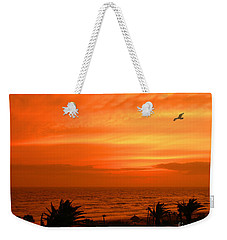 Weekender Tote Bag featuring the photograph Ablaze by Mariarosa Rockefeller