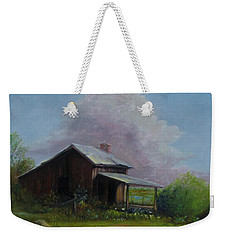 Weekender Tote Bag featuring the painting Abondoned Memories  by Gene Gregory