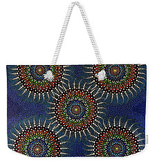 Weekender Tote Bag featuring the painting Aboriginal Inspirations 16 by Mariusz Czajkowski