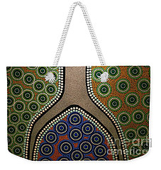 Weekender Tote Bag featuring the photograph Aboriginal Inspirations 21 by Mariusz Czajkowski