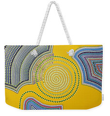 Weekender Tote Bag featuring the painting Aboriginal Inspirations 35 by Mariusz Czajkowski