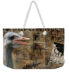 About The Ostrich Weekender Tote Bag by Nola Lee Kelsey