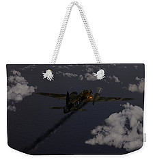 Above And Beyond - Jimmy Ward Vc Weekender Tote Bag by Gary Eason