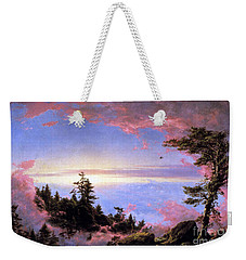 Above The Clouds At Sunrise By Frederick Edwin Church Weekender Tote Bag