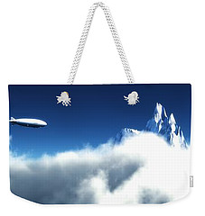Weekender Tote Bag featuring the digital art Above The Clouds... by Tim Fillingim