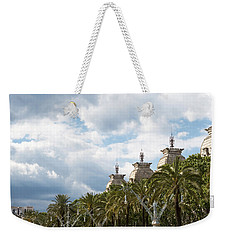 Weekender Tote Bag featuring the photograph Above The Trees Of Parc De La Ciutadella by Lorraine Devon Wilke