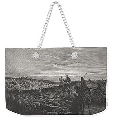 Abraham Journeying Into The Land Of Canaan Weekender Tote Bag by Gustave Dore