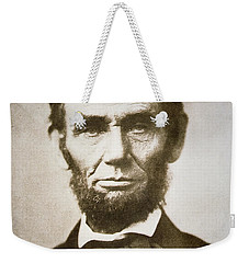 Abraham Lincoln Weekender Tote Bag by Alexander Gardner
