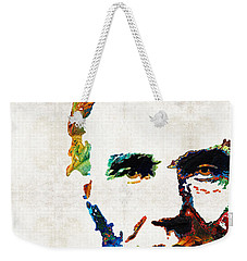 Abraham Lincoln Art - Colorful Abe - By Sharon Cummings Weekender Tote Bag by Sharon Cummings