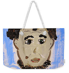 Weekender Tote Bag featuring the painting Abraham Lincoln Future President by Mary Carol Williams