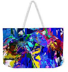Abstract 010215 Weekender Tote Bag by David Lane