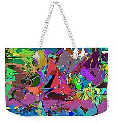 Weekender Tote Bag featuring the digital art Abstract 011515 by David Lane