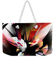 Weekender Tote Bag featuring the digital art Abstract 082214 by David Lane