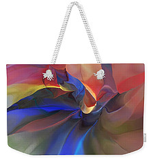 Weekender Tote Bag featuring the digital art Abstract 121214 by David Lane