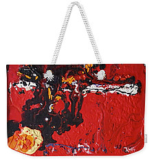 Abstract 13 - Dragons Weekender Tote Bag by Mario Perron