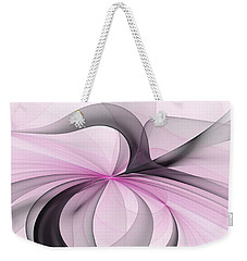 Abstract Art Fractal With Pink Weekender Tote Bag by Gabiw Art