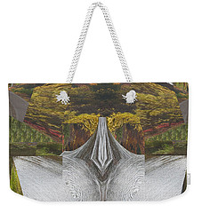Abstract Art Shemale Treetrunk Nature Natural Eyes Breast   Graphic Artistic Conversion Of Photograp Weekender Tote Bag