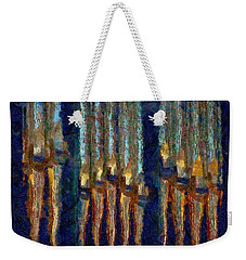 Abstract Blue And Gold Organ Pipes Weekender Tote Bag