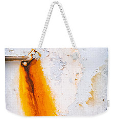 Weekender Tote Bag featuring the photograph Abstract Boat Detail by Silvia Ganora