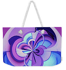 Abstract Circle Squared Weekender Tote Bag by Chris Anderson