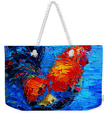 Abstract Colorful Gallic Rooster Weekender Tote Bag