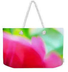 Weekender Tote Bag featuring the photograph Abstract Colors Of Spring by Menega Sabidussi