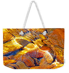 Abstract Creek Water 4 Weekender Tote Bag