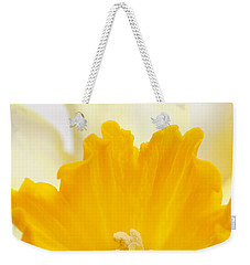 Abstract Daffodil Weekender Tote Bag