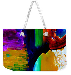 Weekender Tote Bag featuring the painting Abstract Du Colour by Lisa Kaiser