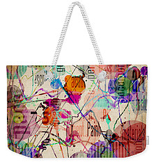 Weekender Tote Bag featuring the digital art Abstract Expressionism by Phil Perkins