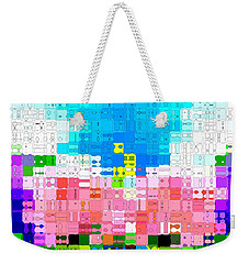 Abstract Flower Garden Weekender Tote Bag by Anita Lewis